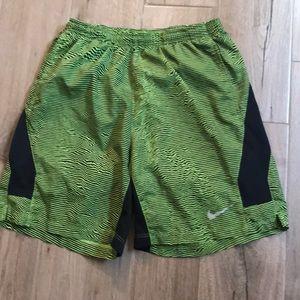 Men's neon and black nike shorts